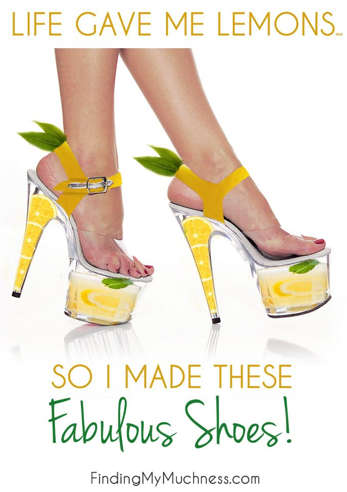 life gave me lemons shoes