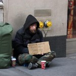 My kid gave money to the homeless dude.