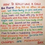 How to Really Love your Child- My 2 cents.